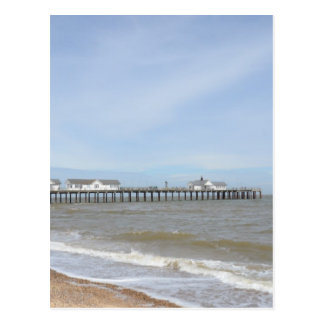 Beach And Pier At Southwold Suffolk Postcard