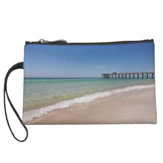 Beach and Pier zipper pouch Wristlets