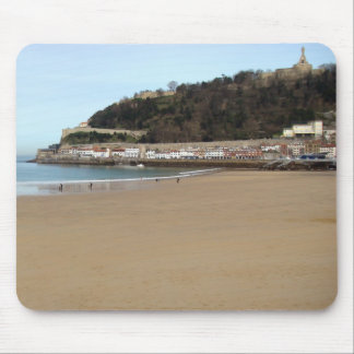 Beach and Port of Donostia - San Sebastián. Mouse Mat