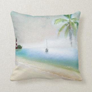 Beach and Sailboat Pillow