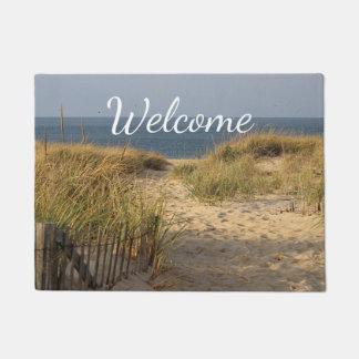 Beach and sand dunes doormat