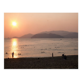 Beach and Sea at Sunrise, Nha Trang, Vietnam Postcard