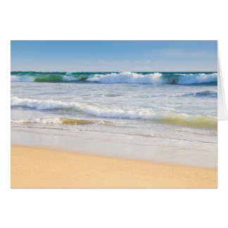 Beach and sea blank card