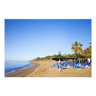 Beach and Sea in Marbella on Costa del Sol Photo