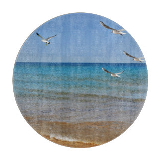 Beach and Seagulls Cutting Board