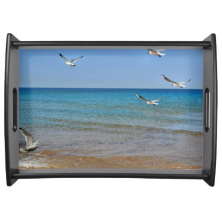 Beach and Seagulls Serving Tray
