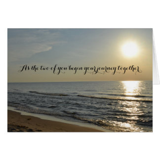 Beach and Sun Wedding Card