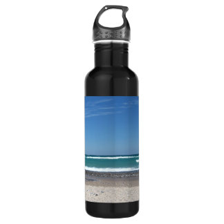 Beach and waves 710 ml water bottle