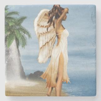 Beach Angel Stone Coaster