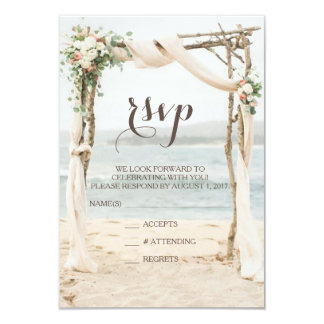 Beach Arbor Wedding RSVP Card