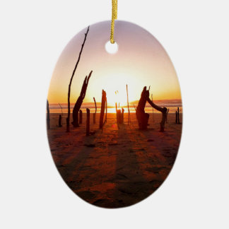 Beach Art Ceramic Oval Decoration