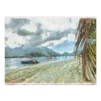 Beach at a tropical paradise art photo