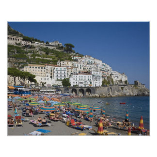 Beach at Amalfi, Campania, Italy Poster