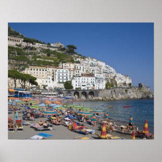 Beach at Amalfi, Campania, Italy Poster