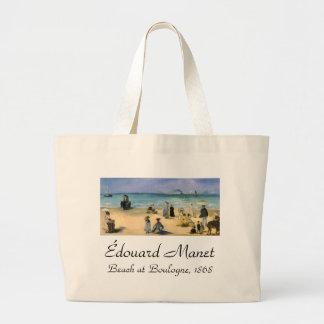 Beach at Boulogne by Manet Vintage Impressionism Bag