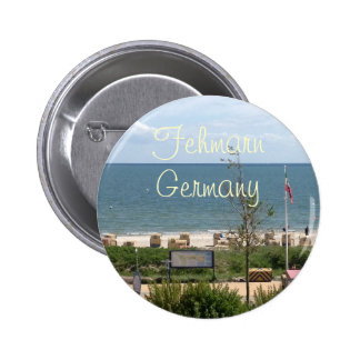 Beach at Fehmarn Germany Pinback Buttons