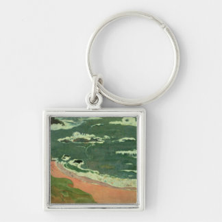 Beach at Le Pouldu, 1889 Key Ring
