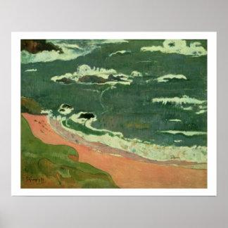 Beach at Le Pouldu, 1889 Poster