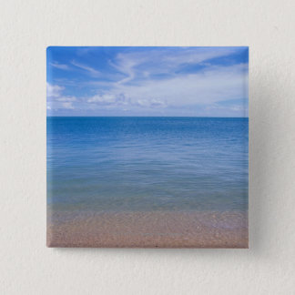 Beach at low tide 15 cm square badge