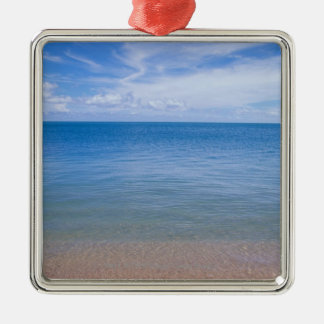 Beach at low tide christmas ornament