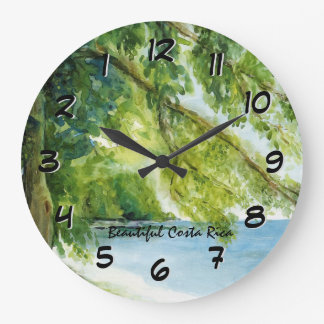 Beach at Manuel Antonio Backward Clock