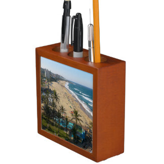 Beach At Margate, South Coast, Kwazulu-Natal 2 Desk Organiser