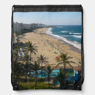 Beach At Margate, South Coast, Kwazulu-Natal 2 Drawstring Bags