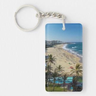 Beach At Margate, South Coast, Kwazulu-Natal Double-Sided Rectangular Acrylic Key Ring