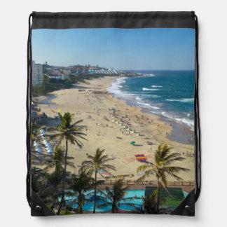 Beach At Margate, South Coast, Kwazulu-Natal Drawstring Bag