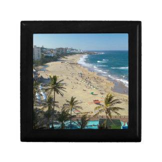 Beach At Margate, South Coast, Kwazulu-Natal Small Square Gift Box