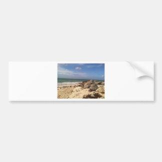 Beach at Port Lucaya, Freeport, Bahamas Bumper Sticker