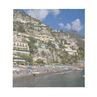 Beach at Positano, Campania, Italy Notepad