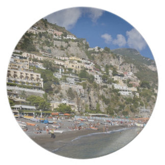 Beach at Positano, Campania, Italy Plate