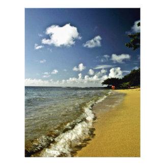 Beach At Princeville - Kauai 21.5 Cm X 28 Cm Flyer