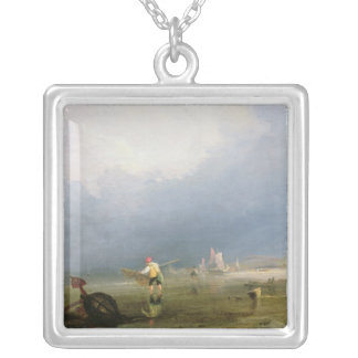 Beach at Shoreham Silver Plated Necklace