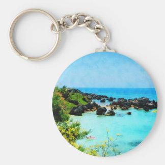 Beach at St. George Bermuda Key Ring