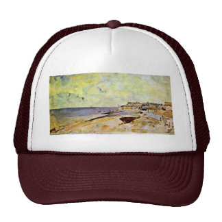 Beach At Ste Address By Jongkind Johan Barthold Trucker Hat