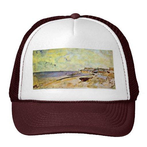 Beach At Ste. Address By Jongkind Johan Barthold ( Trucker Hat