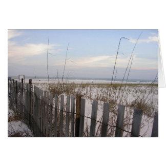 Beach at Sun Down Card