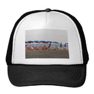 Beach at sunset mesh hat