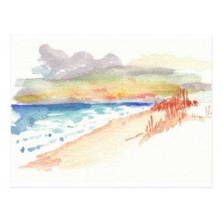 Beach at Sunset Postcard