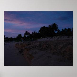 Beach at Sunset Print
