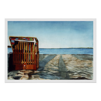 Beach at Sunset Poster