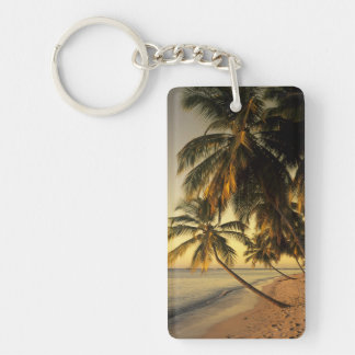 Beach at sunset, Trinidad Double-Sided Rectangular Acrylic Key Ring