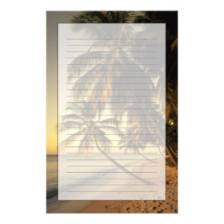 Beach at sunset, Trinidad Stationery Paper