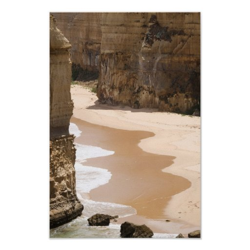Beach at the 12 Apostles, Victoria Poster