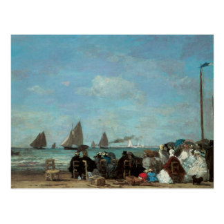 Beach at Trouville, 1863 Postcard