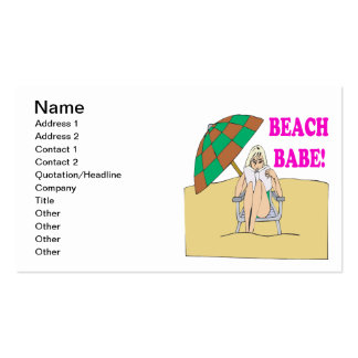 Beach Babe 3 Pack Of Standard Business Cards
