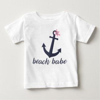 Beach Babe - Baby Girl's Shirt. Anchor. Nautical. Baby T-Shirt