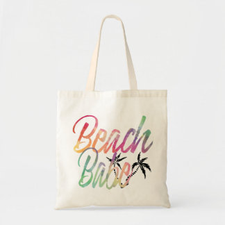 BEACH BABE RAINBOW SCRIPT BLACK PALM TREE